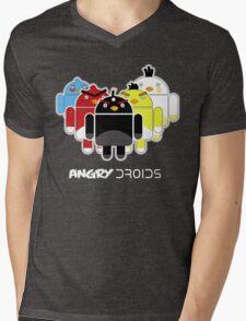 Angry Droids Mens V-Neck T-Shirt
