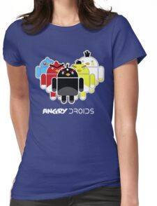 Angry Droids Womens Fitted T-Shirt