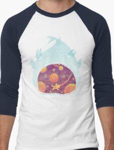 Cosmic Fish with Gingerbread Astronaut Men's Baseball ¾ T-Shirt