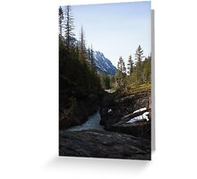 Avalanche in Glacier National Park Greeting Card