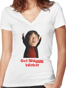 Get Shiggy With It Women's Fitted V-Neck T-Shirt