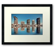 The Reflection of Melbourne Framed Print