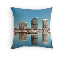 The Reflection of Melbourne Throw Pillow