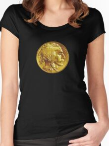 Indian Head Gold Coin (T shirt) Women's Fitted Scoop T-Shirt
