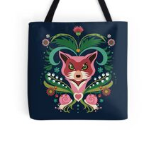 Pink FOX Portrait with Snails Tote Bag