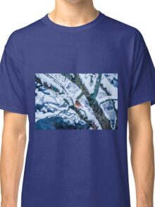 Female Cardinal In Snowy Tree Classic T-Shirt