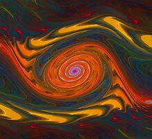 Colorful Wavy Gnarl  by Beatriz  Cruz
