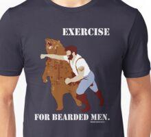 Exercise for Bearded Men Unisex T-Shirt