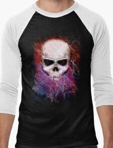 Color Skull Men's Baseball ¾ T-Shirt