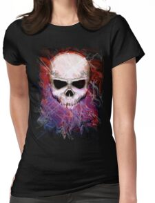 Color Skull Womens Fitted T-Shirt
