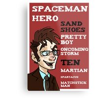 Sand Shoes and other phrases - The Tenth Doctor Metal Print