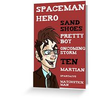 Sand Shoes and other phrases - The Tenth Doctor Greeting Card