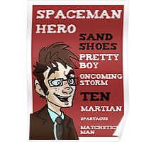 Sand Shoes and other phrases - The Tenth Doctor Poster