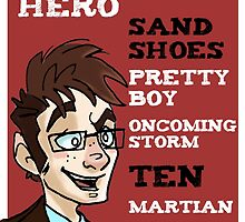 Sand Shoes and other phrases - The Tenth Doctor by SashDoesDoodles
