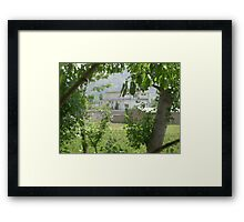 Pakistan- Al-Qaeda leader Osama bin Laden Compound  Framed Print