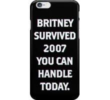 britney 2007 iPhone Case/Skin