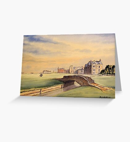 St Andrews Golf Course Scotland - 18th Fairway Greeting Card