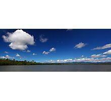 Blue Cloudy Sky Panorama Photographic Print
