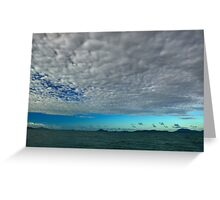 Blue Cloudy Sky At Sea Greeting Card
