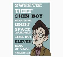 Chin boy and other phrases - Eleventh Doctor! Kids Clothes