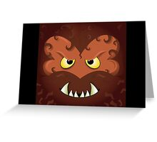 WOLFMAN - HALLOWEEN, HORROR, CUTE Greeting Card