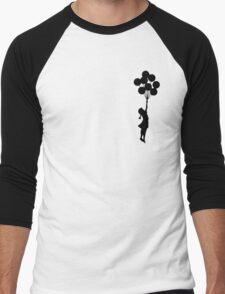 Balloon Girl Black Men's Baseball ¾ T-Shirt