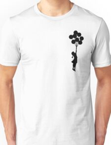 Balloon Girl Black Unisex T-Shirt