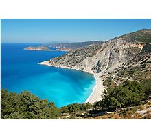 Myrtos Beach Photographic Print
