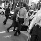 Busy street crossing by Darryl Beer