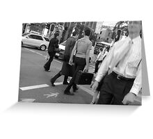Busy street crossing Greeting Card