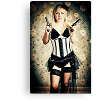 Burlesque cowgirl Canvas Print