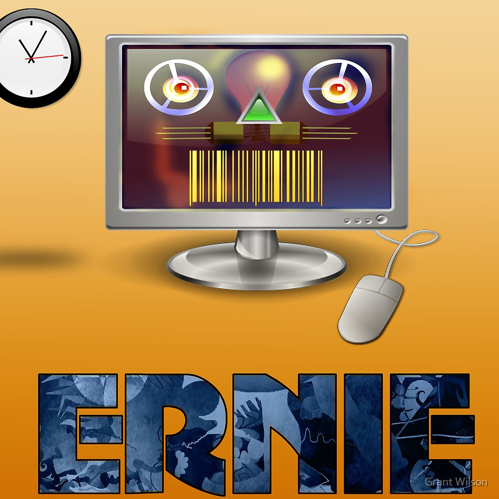 Ernie, Premium Bond picker by Grant Wilson