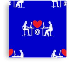 online dating Canvas Print