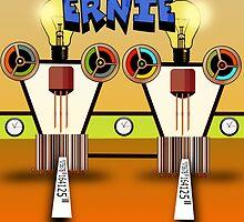 Ernie, Premium Bond picker Robot version. by Grant Wilson