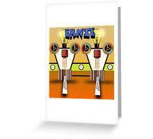 Ernie, Premium Bond picker Robot version. Greeting Card