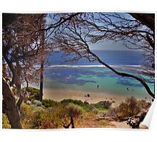 Through the trees to Yallingup beach HDR Poster