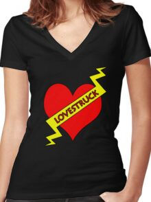 """lovestruck """"tattoo"""" Women's Fitted V-Neck T-Shirt"""