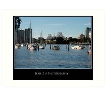 Lazy Saturday by the river Art Print