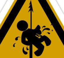 Danger Floor Harpoons - Dark Tee Sticker