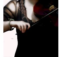 The Fiddle Player in Violin Concerto A minor Grunge  Photographic Print