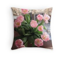 Easter morning. Throw Pillow