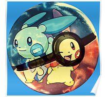 Plusle & Minun | Pokeball Poster