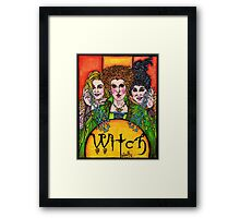 Witch Sisters Framed Print