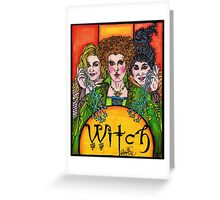 Witch Sisters Greeting Card
