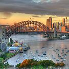 Morning Light - Sydney Harbour Sydney Australia -The HDR Experience by Philip Johnson