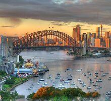 Morning Light - Sydney Harbour Sydney Australia -The HDR Experience by Philip Johnson
