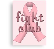 Pink Ribbon Fight Club Canvas Print