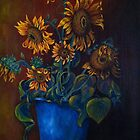 Folk Art Sunflowers by freespirit1972