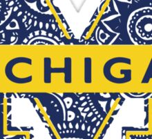 Michigan Blue Doodle Logo Sticker