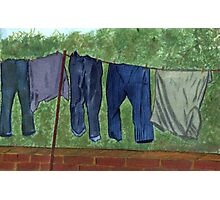 90 - WASHING DAY - DAVE EDWARDS - WATERCOLOUR - 2002 Photographic Print